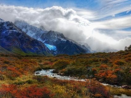 Blue Glacier stream Wallpaper Landscape Nature