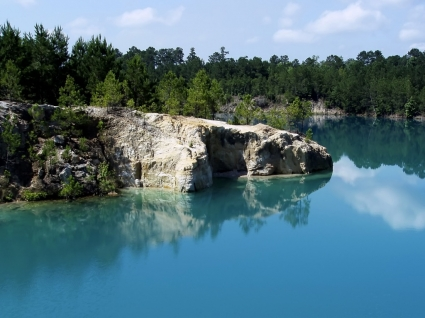 Blue Hole Wallpaper Landscape Nature