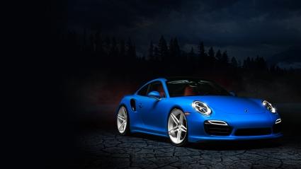 Blue Porsche 991