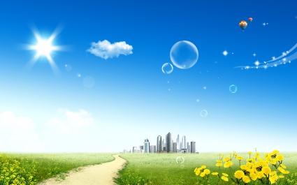 Blue Sky & City