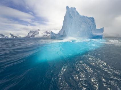 Blue Tall Iceberg