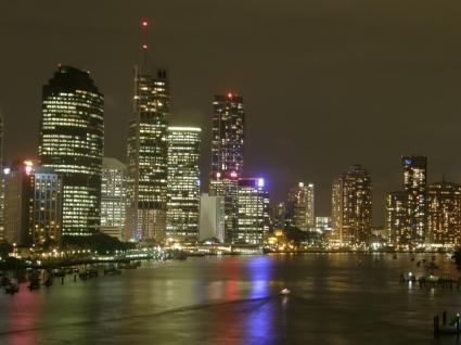 Brisbane by night Wallpaper Australia World