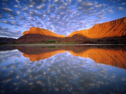 Buttermilk Clouds Colorado River