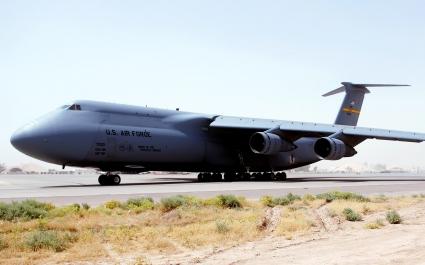 C 5 Galaxy at Balad Air Base Iraq