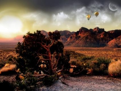 Canyon View Wallpaper Landscape Nature