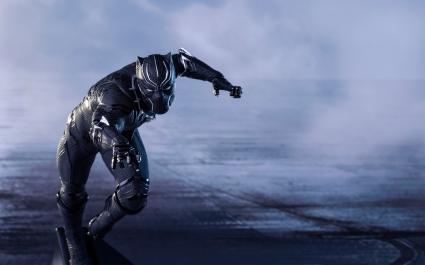 Captain America Civil War Black Panther 4K