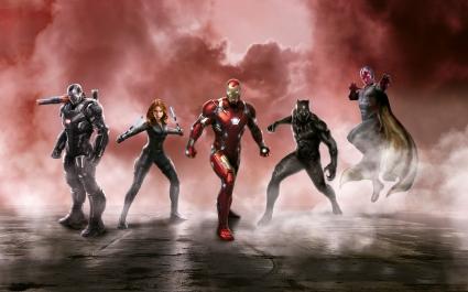 Captain America Civil War Cast 5K