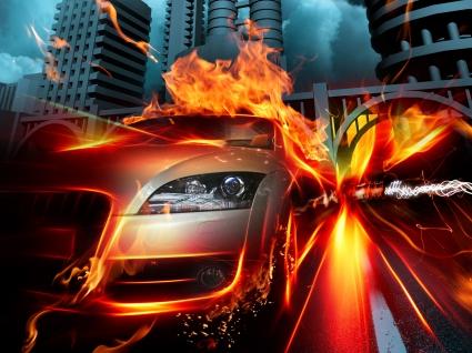 Car in Fire City HQ