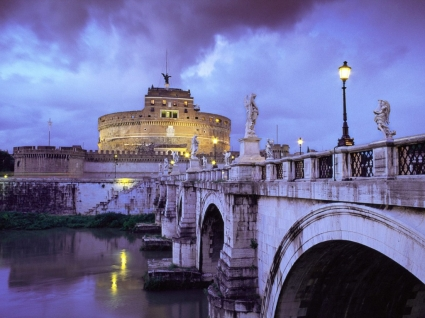 Castel Sant Angelo and Bridge Wallpaper Italy World