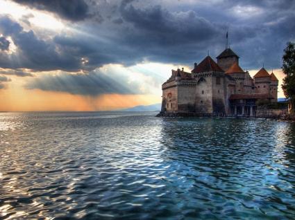Chillon Castle Wallpaper Switzerland World