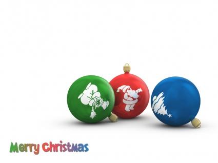 Chistmas Globes Wallpaper Christmas Holidays