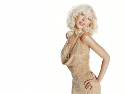 Christina Aguilera Gold Dress Wallpaper Christina Aguilera Female celebrities