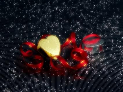 Christmas Hearts Wallpaper Christmas Holidays