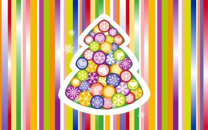 Christmas Tree Colorful