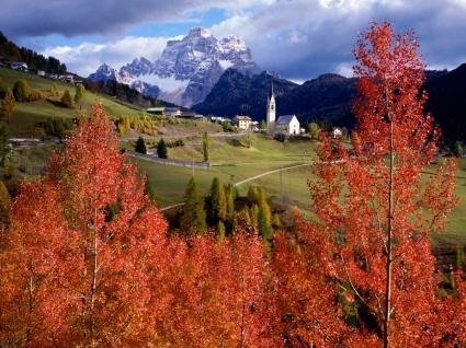 Church of Selva Di Cadore Wallpaper Italy World