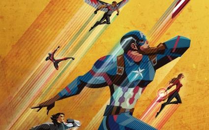 Civil War Artowork Captain America