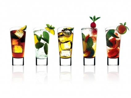 Cocktail Glasses Wallpaper Abstract 3D