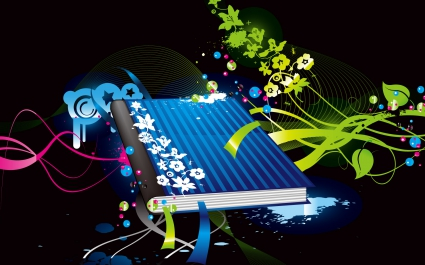 Colorful Vector Book