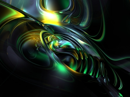 Conch Wallpaper Abstract 3D