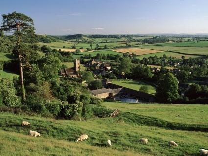 Corton Denham Village Wallpaper England World