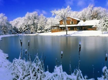 Country Retreat Wallpaper Winter Nature
