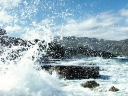 Crashing waves Wallpaper Beaches Nature