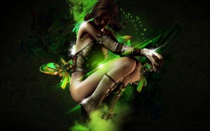 Creative Fantasy Girl