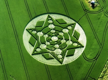 Crop Circle Wallpaper Other Nature
