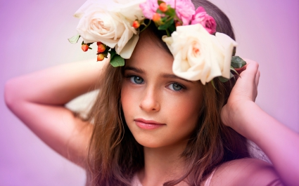 Cute Child Flowers