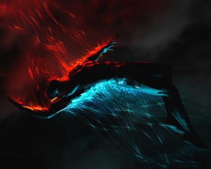 Dark Man Abstract