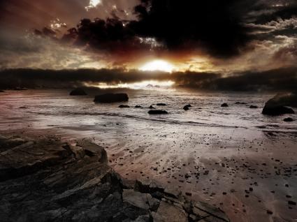 Dark Sunset Wallpaper Landscape Nature