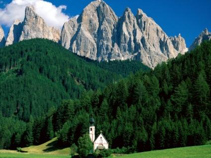 Dolomite Mountains Wallpaper Italy World