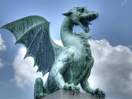 Dragon statue Wallpaper Slovenia World