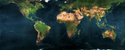 Earth Map Dual Monitor