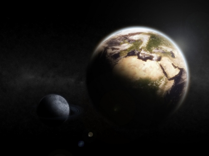 Earth Moon Wallpaper Space Nature