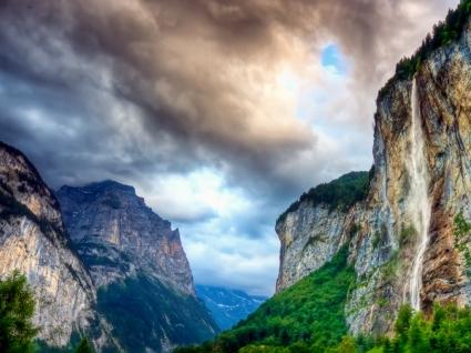 Falls Wallpaper Landscape Nature