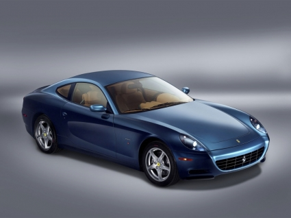 Ferrari 612 Scaglietti Blue Side and Front Wallpaper Ferrari Cars