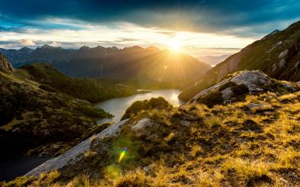 Fiordland Mountain Sunrise