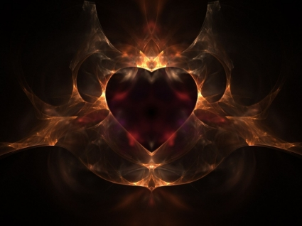 Fire heart Wallpaper Abstract Other