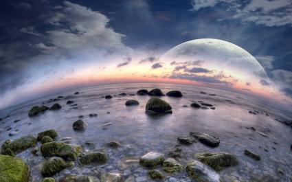 Fisheye Beach Dreamy World