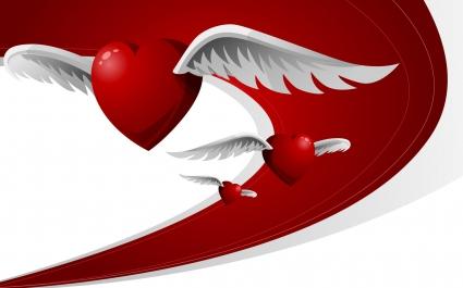 Flying Love Hearts