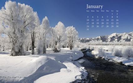 Fresh Snow January 2010 Calender
