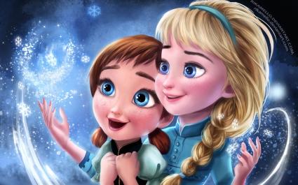 Frozen Elsa Anna Sisters