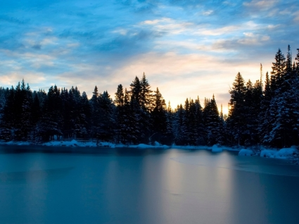 Frozen Lake Wallpaper Landscape Nature