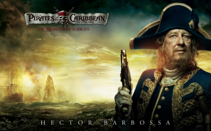 Geoffrey Rush in Pirates Of The Caribbean 4