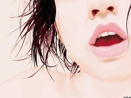 Girl Lips Vector