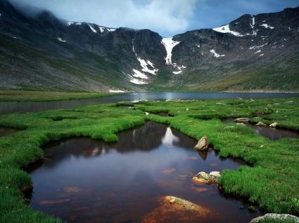 Glaciar Lake Wallpaper Landscape Nature