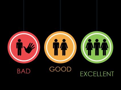 Good Bad Excellent