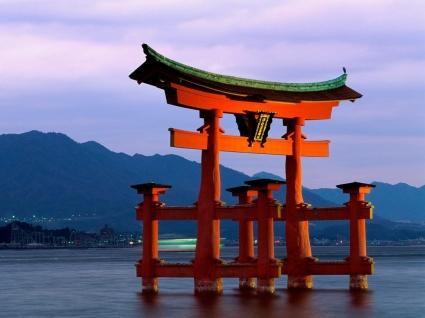 Grand Gate Itsukushima Shrine Wallpaper Japan World