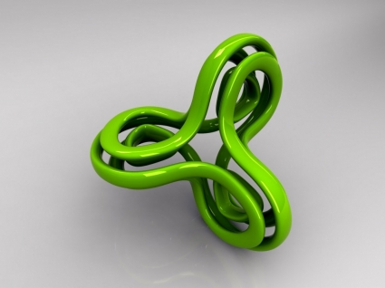Green Loop Wallpaper Abstract 3D